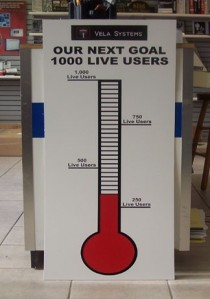 dry erase custom single goal thermometer
