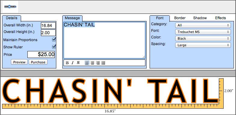 Design custom boat lettering online signs n frames for Custom car designer online