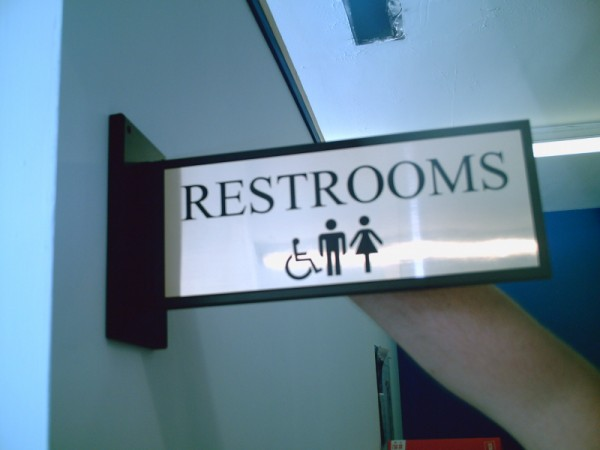 CUSTOM ENGRAVED SIGNS SIGNSNFRAMES - Bathroom directional signs