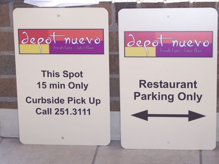 custom_restaraunt_parking_sign